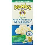 [Annie`S Homegrown] Organic Mac & Cheese Whole Wheat Shells & Cheddar  At least 95% Organic