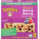 [Annie`S Homegrown] Organic Granola Bars Berry Berry  At least 95% Organic