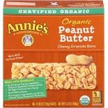 [Annie`S Homegrown] Organic Granola Bars Peanut Butter  At least 95% Organic