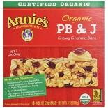 [Annie`S Homegrown] Organic Granola Bars PB & J  At least 95% Organic