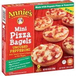 [Annie`S Homegrown] Frozen Pizza Mini Bagels, Uncured Pepperoni