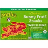 [Annie`S Homegrown] Organic Bunny Fruit Snacks Tropical Treat  At least 95% Organic