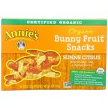 [Annie`S Homegrown] Organic Bunny Fruit Snacks Sunny Citrus  At least 95% Organic