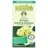 [Annie`S Homegrown] Organic Mac & Cheese Alfredo Shells & Cheddar  At least 95% Organic