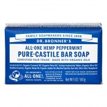 [Dr. Bronner`S Magic Soaps] Organic Bar Soap Peppermint  At least 70% Organic