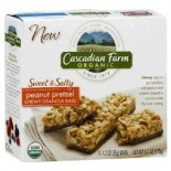 [Cascadian Farm] Sweet & Salty Bars Peanut Pretzel  At least 70% Organic