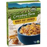 [Cascadian Farm] Cereals Honey Oat Crunch  At least 95% Organic