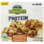 [Cascadian Farm] Granola Bars Pbtr Cchip, Chewy, Protein, 5ct  At least 95% Organic