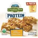 [Cascadian Farm] Granola Bars Hny Rstd Nut, Chewy, Protein 5ct  At least 95% Organic