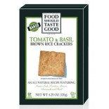 [Food Should Taste Good] Brown Rice Crackers Tomato & Basil