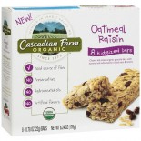 [Cascadian Farm] Granola Bars Kid Bar, Oatmeal Raisin Chewy  At least 95% Organic
