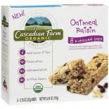 [Cascadian Farm] Granola Bars Kid Bar, Oatmeal Raisin Chewy  At least 95% Organic