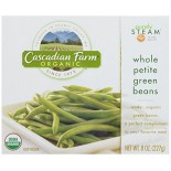 [Cascadian Farm] Boxed Vegetables Green Beans, Petite Whole  At least 95% Organic