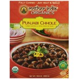 [Mother India Organics] Traditional Indian Ready-To-Eat-Meals Punjabi Chhole  At least 95% Organic