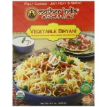 [Mother India Organics] Traditional Indian Ready-To-Eat-Meals Vegetable Biryani  At least 95% Organic