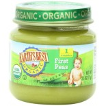 [Earth`S Best Baby Foods] Beginner Baby Foods First Peas  At least 95% Organic