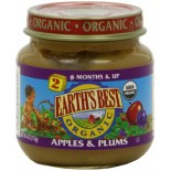 [Earth`S Best Baby Foods] Fruit & Vegetables Apples & Plums  At least 95% Organic