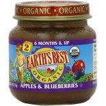 [Earth`S Best Baby Foods] Fruit & Vegetables Apples & Bluberries  At least 95% Organic