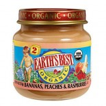 [Earth`S Best Baby Foods] Fruit & Vegetables Bananas Peaches & Raspberries  At least 95% Organic