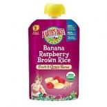 [Earth`S Best Baby Foods] Fruit & Grain Puree Banana Raspberry Brown Rice  At least 95% Organic