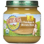 [Earth`S Best Baby Foods] Meat & Vegetable Dinners (6 mos. and older) Chicken & Brown Rice  At least 95% Organic