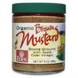 [Eden Foods] Condiments Stone Ground Mustard, Glass  At least 95% Organic