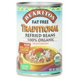 [Bearitos] Beans & Dips Refried, Regular, Fat Free  100% Organic