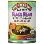 [Bearitos] Beans & Dips Refried, Black, Fat Free  100% Organic