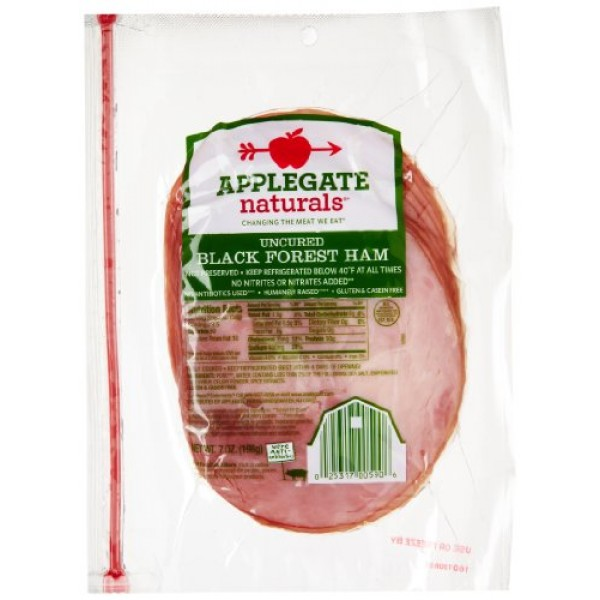 [Applegate Farms] Sliced Deli Meats Black Forest Ham, ABF