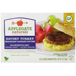 [Applegate Farms] Sausage Patties Savory Turkey, GF