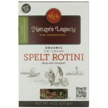 [Natures Legacy] White Pasta Tricolor Spelt Rotini  At least 95% Organic