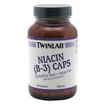 [Twin Lab] Vitamin B Niacin (B3), 1000 mg