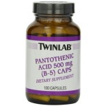 [Twin Lab] Vitamin B Pantothenic Acid, 500 mg (B5)