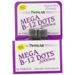[Twin Lab] Vitamin B Mega B12 Dots, 5000 mcg