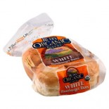 [Rudi`S Organic Bakery] Buns, Rolls & Muffins White Hamburger Buns 8ct  At least 95% Organic