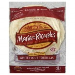 [Maria & Ricardo`S] Tortillas White Flour, 8in  At least 70% Organic