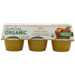 [Santa Cruz Organic] Organic Apple Sauce Cups Apple Peach  At least 95% Organic