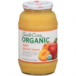 [Santa Cruz Organic] Organic Glass Apple Sauces, 23 oz. Apple Apricot  At least 95% Organic