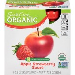 [Santa Cruz Organic] Organic Applesauce Pouches Apple Strawberry  At least 95% Organic