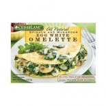 [Cedarlane] Egg White Breakfast Meals Omlet, Spinach & Mushroom