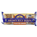 [Edward & Sons] Brown Rice Snaps Onion, Toasted  At least 95% Organic