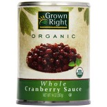 [Grown Right]  Cranberry Sauce, Whole Berry  At least 95% Organic
