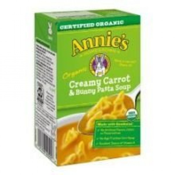 [Annie`S Homegrown] Soups Crmy Carrot & Bunny Pasta Soup  At least 95% Organic
