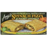 [Amy`S] Pockets Spinach Pizza  At least 70% Organic