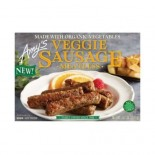 [Amy`S] Meat Alternatives Veggie Sausage  At least 70% Organic