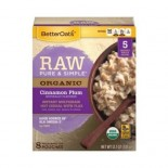 [Better Oats] Raw, Pure & Simple Cinnamon Plum, 8 Pouches  At least 95% Organic