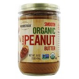 [Woodstock] Nut Butters Peanut Butter, Classic, Smooth  At least 95% Organic