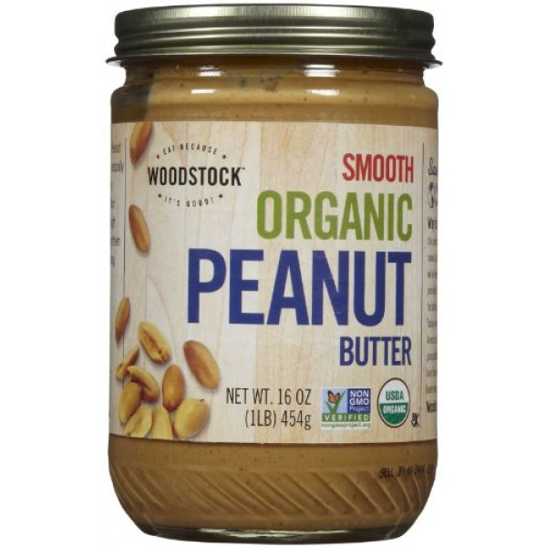 [Woodstock] Nut Butters Peanut, Creamy  At least 95% Organic