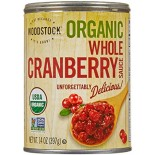[Woodstock] Dried/Canned Fruits/Vegetables Cranberry Sauce, Whole  At least 95% Organic