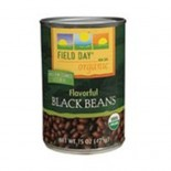 [Field Day] Canned Beans Black  At least 95% Organic